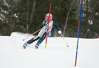 Paul Ladouceur Slalom U12 girls first run with Gunstock Ski Club.  ©2017 Karen Bobotas Photographer
