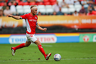Charlton Athletic midfielder Chris Solly (20) during the EFL Sky Bet League 1 match between Charlton Athletic and Shrewsbury Town at The Valley, London, England on 11 August 2018.