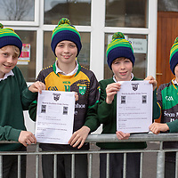 Cathal McNamara, Sean Ryan, Sean Boyce and Finn Bliss from Kilkishen NS wearing the hats from their Jessies Project