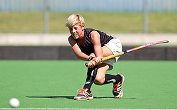 Nic Lombard, of the Black Shadows team, shoots for goal on the first day of the Super 5's junior tournament, held at the Hartleyvale stadium in Cape Town. The tournament ends on Saturday.
