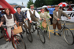 Traditional group with old bikes at the start of 3rd stage of the 15th Tour de Slovenie from Skofja Loka to Krvavec (129,5 km), on June 13,2008, Slovenia. (Photo by Vid Ponikvar / Sportal Images)/ Sportida)