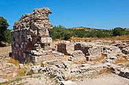Byzantine Basilica ruins at the Apollo Smintheion Sanctuary near Gulpinar Village Turkey.