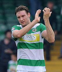 Ryan Bird of Yeovil Town - Photo mandatory by-line: Harry Trump/JMP - Mobile: 07966 386802 - 22/08/15 - SPORT - FOOTBALL - Sky Bet League Two - Yeovil Town v Luton Town - Huish Park, Yeovil, England.