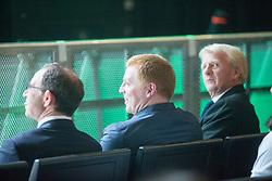 Martin O'Neil, Hibernian's manager Neil Lennon and Gordon Strachan Celtic celebrating the Lisbon Lions at the Hydro.