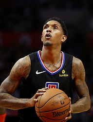 March 8, 2019 - Los Angeles, California, U.S - Los Angeles Clippers' Lou Williams (23) shoots free throw during an NBA basketball game between Los Angeles Clippers and Oklahoma City Thunder Friday, March 8, 2019, in Los Angeles. (Credit Image: © Ringo Chiu/ZUMA Wire)