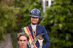 Podium Juniors, Binard Leon, Podium Young Riders, Benay Celia<br /> BK Juniors Arville 20202<br /> © Hippo Foto - Dirk Caremans<br />  23/08/2020