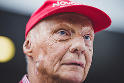21.05.2019, AUT, ARCHIV, Niki Lauda am 20. Mai im Alter von 70 Jahren verstorben, im Bild Niki Lauda (AUT, Mercedes), 30.06.2018, Red Bull Ring, Spielberg // ARCHIVE, Niki Lauda passed away on 20 May at the age of 70.<br /> . Mercedes AMG F1 Non- Executive Chairman Niki Lauda (AUT) during Qualifying of the Austrian FIA Formula One Grand Prix at the Red Bull Ring in Spielberg, France on 2018/06/30. EXPA Pictures © 2019, PhotoCredit: EXPA/ JFK