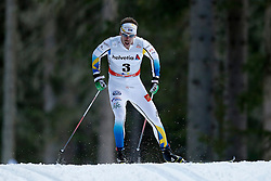 13.12.2014, Davos, SUI, FIS Langlauf Weltcup, Davos, 15 km, Herren, im Bild Emil Joensson (SWE) // during Cross Country, 15km, men at FIS Nordic world cup in Davos, Switzerland on 2014/12/13. EXPA Pictures © 2014, PhotoCredit: EXPA/ Freshfocus/ Christian Pfander<br /> <br /> *****ATTENTION - for AUT, SLO, CRO, SRB, BIH, MAZ only*****