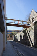 Brewer Street Bridge. Pembroke College New Build on completion March 2013. Oxford, UK