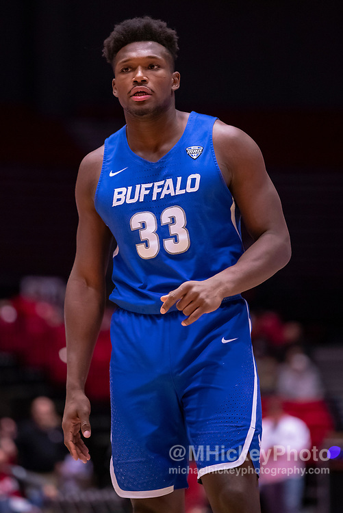 DEKALB, IL - JANUARY 22: Nick Perkins #33 of the Buffalo Bulls is seen during the game against the Northern Illinois Huskies at NIU Convocation Center on January 22, 2019 in DeKalb, Illinois. (Photo by Michael Hickey/Getty Images) *** Local Caption *** Nick Perkins