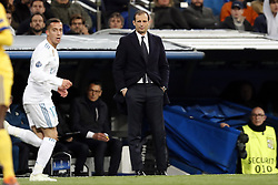 coach Massimiliano Allegri of Juventus FC during the UEFA Champions League quarter final match between Real Madrid and Juventus FC at the Santiago Bernabeu stadium on April 11, 2018 in Madrid, Spain