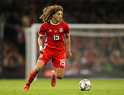 October 11, 2018 - Cardiff City, Walles, United Kingdom - Cardiff, Wales October 11, ..Ethan Ampadu of Wales during Exhibition Match between Wales and Spain at Principality stadium, Cardiff City, on 11 Oct  2018. (Credit Image: © Action Foto Sport/NurPhoto via ZUMA Press)