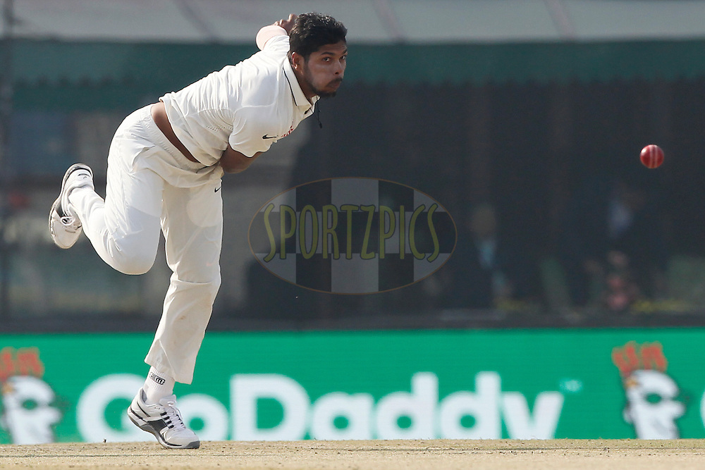 Umesh Yadav of India bowls a delivery during day 1 of the third test match between India and England held at the Punjab Cricket Association IS Bindra Stadium, Mohali on the 26th November 2016.<br /> <br /> Photo by: Deepak Malik/ BCCI/ SPORTZPICS