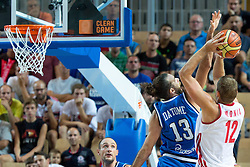 04.09.2013, Arena Bonifka, Koper, SLO, Eurobasket EM 2013, Russland vs Italien, im Bild Sergey Monya #12 of Russia shoots against Luigi Datome #13 of Italy // during Eurobasket EM 2013 match between Russia and Italy at Arena Bonifka in Koper, Slowenia on 2013/09/04. EXPA Pictures © 2013, PhotoCredit: EXPA/ Sportida/ Matic Klansek Velej<br /> <br /> ***** ATTENTION - OUT OF SLO *****