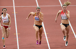 08-03-2015 CZE: European Athletics Indoor Championships, Prague<br /> Dafne Schippers in actie in de semi final op de 60 meter