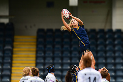 Cara Brincat of Worcester Valkyries claims the lineout - Mandatory by-line: Craig Thomas/JMP - 30/09/2017 - RUGBY - Sixways Stadium - Worcester, England - Worcester Valkyries v Saracens Women - Tyrrells Premier 15s