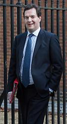 © licensed to London News Pictures. London, UK 04/12/2012. George Osborne leaving No11 on Downing Street in London. Photo credit: Tolga Akmen/LNP