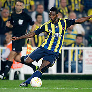 Fenerbahce's Joseph Michael Yobo during their UEFA Europa League Group Stage Group C soccer match Fenerbahce between Marseille at Sukru Saracaoglu stadium in Istanbul Turkey on Thursday 20 September 2012. Photo by TURKPIX