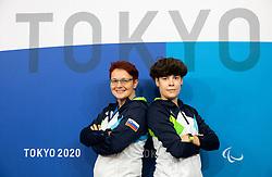 TOKYO, JAPAN - SEPTEMBER 02: Shooting team of Slovenia: coaches Polona Sladic and Sonja Bencina posing at photo shooting on day 9 of the Tokyo 2020 Paralympic Games at Paralympic Village on September 02, 2021 in Tokyo, Japan.  Photo by Vid Ponikvar / Sportida