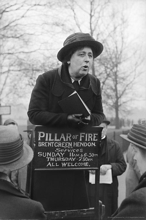 Hyde Park Orators, London, 1935