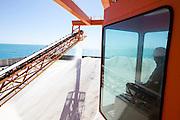 AREIA BRANCA_RN, Brasil.<br /> <br /> Terminal Salineiro de Areia Branca Luiz Fausto de Medeiros, mais conhecido como Porto-Ilha de Areia Branca no Rio Grande do Norte.<br /> <br /> Salt production in Areia Branca Luiz Fausto de Medeiros, better known as Porto-Ilha de Areia Branca no Rio Grande do Norte.<br /> <br /> Foto: RODRIGO LIMA / NITRO