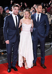 Robert Pattinson, Sienna Miller and Charlie Hunnam arriving at the UK Premiere of Lost City of Z, The British Museim, London.