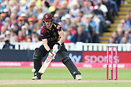 Somersets Tom Abele ramp shot  during the Vitality T20 Finals Day semi final 2018 match between Sussex Sharks and Somerset at Edgbaston, Birmingham, United Kingdom on 15 September 2018.