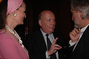 Lady Emma Fellowes, Julian Fellowes and Nick Aylott, Telegraph magazine 40th anniversary, Windows, London Hilton. 6 September 2004. SUPPLIED FOR ONE-TIME USE ONLY-DO NOT ARCHIVE. © Copyright Photograph by Dafydd Jones 66 Stockwell Park Rd. London SW9 0DA Tel 020 7733 0108 www.dafjones.com