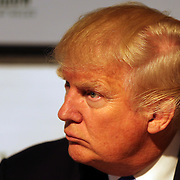 Donald Trump at a press conference after the $210,000 Central Park Show Jumping Grand Prix held in the Trump Ice Rink. The event was part of the four Day Central Park Horse Show. Central Park, Manhattan, New York, USA. 18th September 2014. Photo Tim Clayton