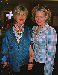 Left to right, ROSEMARY, MARCHIONESS OF NORTHAMPTON and MRS DAWN PERRETT at a reception in London on 11th May 1999.MRX 13
