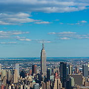 Empire State Building aerial view, New York