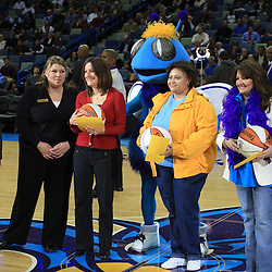 04 February 2009: Teacher's of the year presentation at during halftime of a game between the New Orleans Hornets and the Chicago Bulls at the New Orleans Arena in New Orleans, LA.