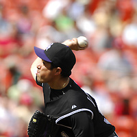 21 July 2007:  Colorado Rockies pitcher Rodrigo Lopez (31) in action against the Washington Nationals.  The Nationals defeated the Rockies 3-0 at RFK Stadium in Washington, D.C.  ****For Editorial Use Only****