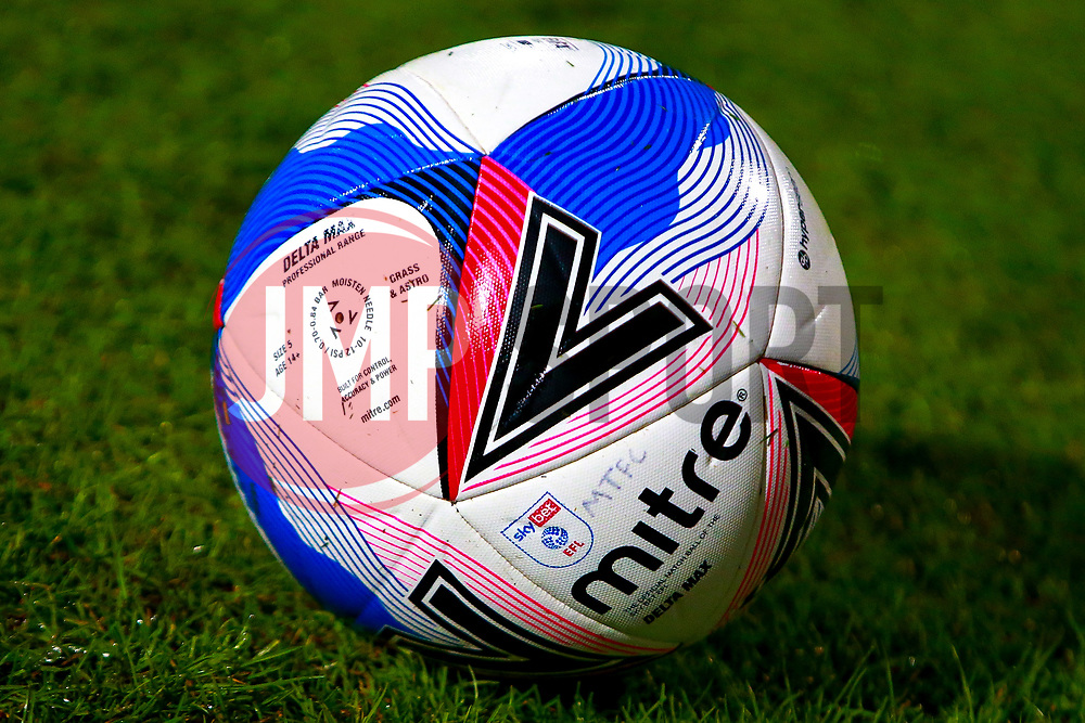 Sky Bet Mitre match ball - Mandatory by-line: Ryan Crockett/JMP - 06/10/2020 - FOOTBALL - One Call Stadium - Mansfield, England - Mansfield Town v Lincoln City - Leasing.com Trophy