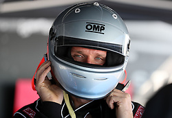 Guy Martin, in the pits of the Triumph Infor Rocket Streamliner as preparations continue for a land speed record attempt at the Bonneville Speedway in Utah, USA.