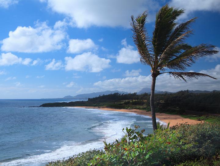 Kauai,Hawaii beach,Pacific ocean