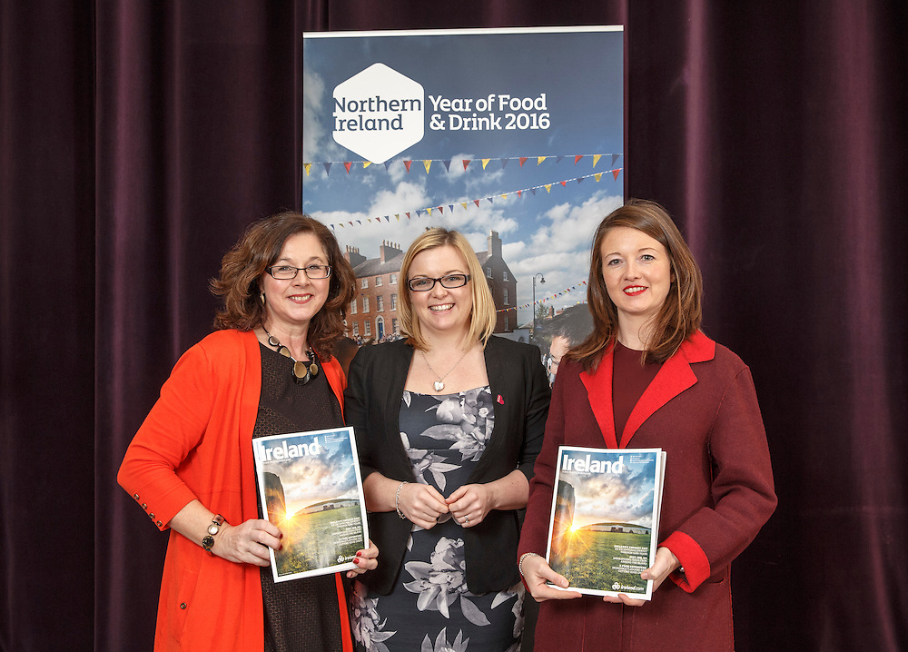 Tourism Ireland Celtic Connections 2016 event in the Corinthian, Glasgow. L to R :  Linda Duncan , TI, Jac Callan , Visit Belfast and Beth Greenan, Galgorm Resort and Sp.a Picture Robert Perry 27th Jan 2016<br /> <br /> Must credit photo to Robert Perry<br /> <br /> Image is free to use in connection with the promotion of the above company or organisation. 'Permissions for ALL other uses need to be sought and payment make be required.<br /> <br /> <br /> Note to Editors:  This image is free to be used editorially in the promotion of the above company or organisation.  Without prejudice ALL other licences without prior consent will be deemed a breach of copyright under the 1988. Copyright Design and Patents Act  and will be subject to payment or legal action, where appropriate.<br /> www.robertperry.co.uk<br /> NB -This image is not to be distributed without the prior consent of the copyright holder.<br /> in using this image you agree to abide by terms and conditions as stated in this caption.<br /> All monies payable to Robert Perry<br /> <br /> (PLEASE DO NOT REMOVE THIS CAPTION)<br /> This image is intended for Editorial use (e.g. news). Any commercial or promotional use requires additional clearance. <br /> Copyright 2015 All rights protected.<br /> first use only<br /> contact details<br /> Robert Perry     <br /> 07702 631 477<br /> robertperryphotos@gmail.com<br />        <br /> Robert Perry reserves the right to pursue unauthorised use of this image . If you violate my intellectual property you may be liable for  damages, loss of income, and profits you derive from the use of this image.