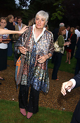 LADY WHEELER wife of Stuart Wheeler at the No Campaign's Summer Party - a celebration of the 'Non' and 'Nee' votes in the Europen referendum in France and The Netherlands held at The Peacock House, 8 Addison Road, London W14 on 5th July 2005.<br /><br />NON EXCLUSIVE - WORLD RIGHTS