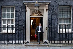 © Licensed to London News Pictures. 13/11/2018. London, UK. Secretary of State for Exiting the European Union Dominic Raab leaves 10 Downing Street after the Cabinet meeting. Photo credit: Rob Pinney/LNP