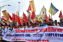 August 3, 2017 - Kolkata, West Bengal, India - Tea garden workers take parts in a rally called Bidhansabha Avijan or rally to Legislative assembly over their various demand on August 3, 2017 in Kolkata. (Credit Image: © Saikat Paul/Pacific Press via ZUMA Wire)