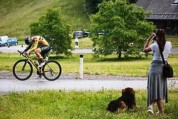 Anze Skok during Slovenian Road Cycling Championship in time trial 2020 on June 28, 2020 in Zg. Gorje - Pokljuka, Slovenia. Photo by Peter Podobnik / Sportida.