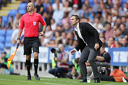 Derby County manager Frank Lampard reacts during the Sky Bet Championship match at the Madejski Stadium, Reading.