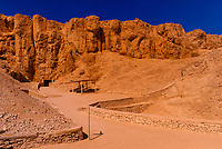 Entrance to the Tomb of Amenophis II, Valley of the Kings Archaeological site, near Luxor, Egypt