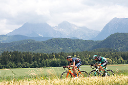 Damiano Cima of Nippo Vinni Fantini Europa Ovini and Ruediger Selig of Bora Hansgrohe during 4th Stage of 25th Tour de Slovenie 2018 cycling race between Ljubljana and Kamnk (155,2 km), on June 14, 2018 in Slovenia. Photo by Matic Klansek Velej / Sportida