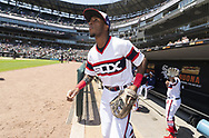 CHICAGO - JUNE 02:  Tim Anderson #7 of the Chicago White Sox runs onto the field prior to the game against the Cleveland Indians on June 2, 2019 at Guaranteed Rate Field in Chicago, Illinois.  (Photo by Ron Vesely)  Subject:  Tim Anderson