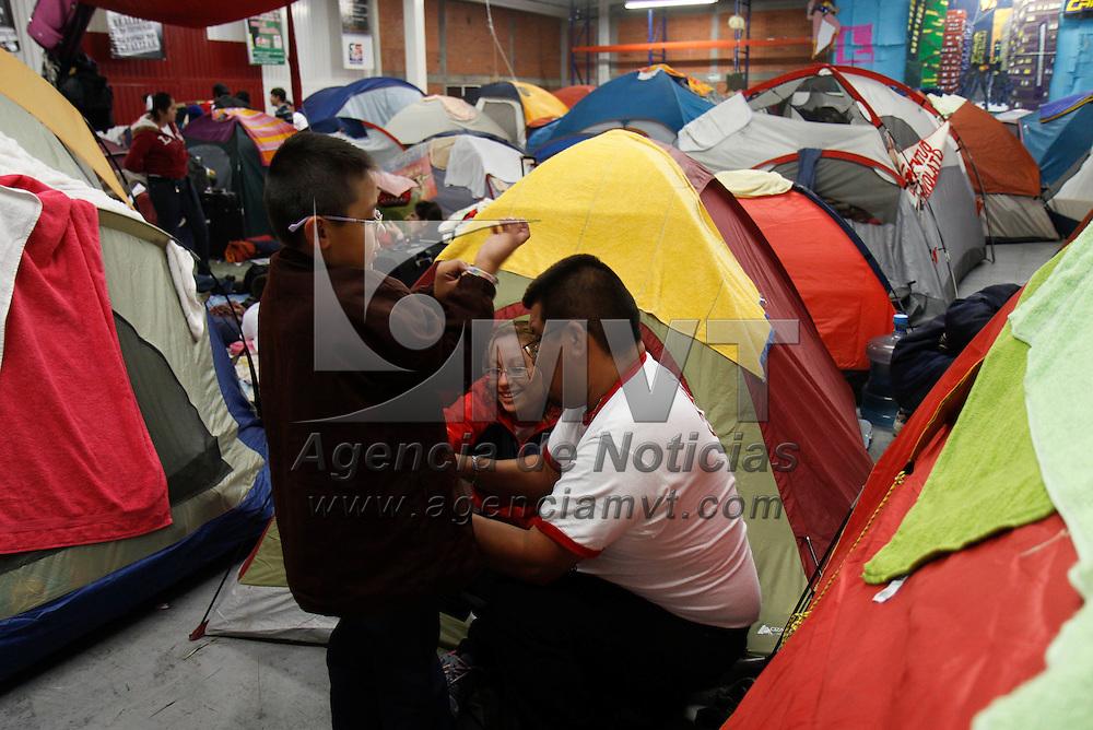 Toluca, México.- Cerca de 1400 niños y jóvenes participan en el Octavo Campamento Nacional  y celebraron el 85 aniversario de Cruz  Roja Mexicana Juventud. Agencia MVT / Crisanta Espinosa