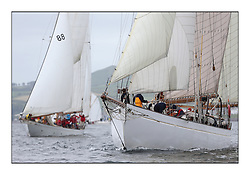 Day one of the Fife Regatta, Round Cumbraes Race.<br /> Kentra, E & D Klaus, GBR, Gaff Ketch, Wm Fife 3rd, 1923<br /> <br /> * The William Fife designed Yachts return to the birthplace of these historic yachts, the Scotland's pre-eminent yacht designer and builder for the 4th Fife Regatta on the Clyde 28th June–5th July 2013<br /> <br /> More information is available on the website: www.fiferegatta.com