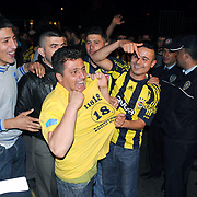Fenerbahce's supporters during their Turkish superleague soccer derby match Fenerbahce between Trabzonspor at the Sukru Saracaoglu stadium in Istanbul Turkey on Sunday 16 May 2010. Fenerbahce lost the Championship after a draw with Trabzonspor. Photo by TURKPIX