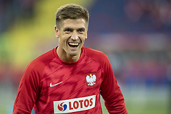 October 14, 2018 - Chorzow, Poland - Krzysztof Piatek of Poland during the UEFA Nations League A match between Poland and Italy at Silesian Stadium in Chorzow, Poland on October 14, 2018  (Credit Image: © Andrew Surma/NurPhoto via ZUMA Press)