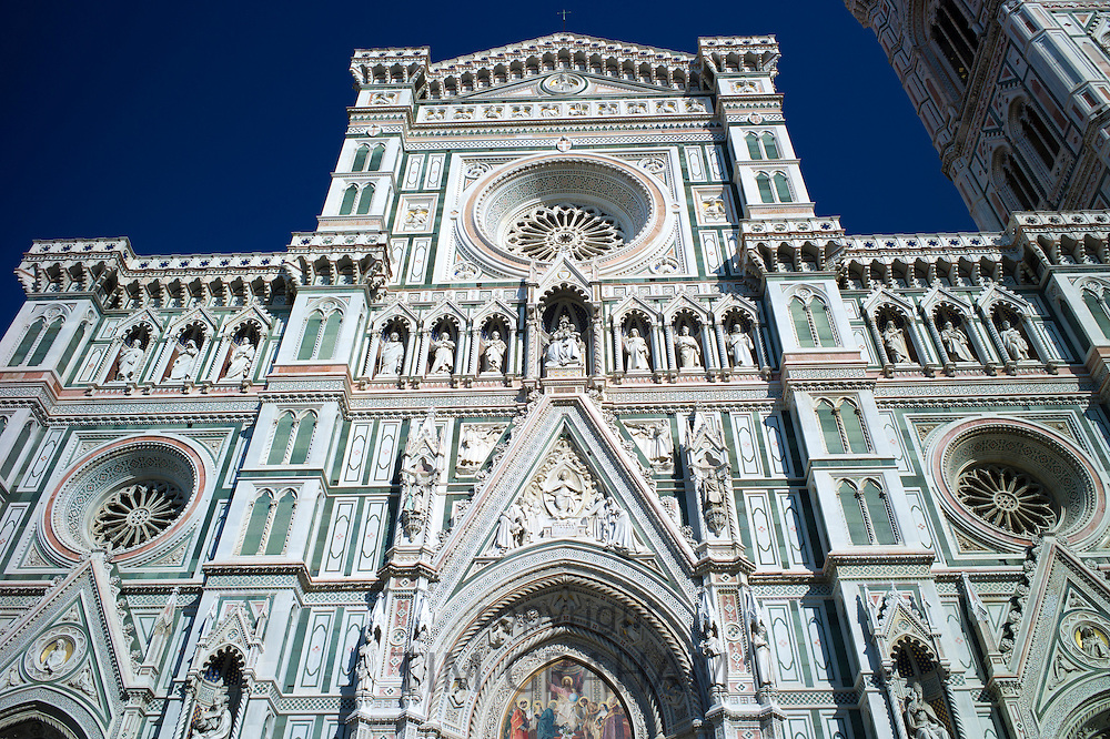 Il Duomo di Firenze, Cathedral of Florence, in Piazza di San Giovanni, Tuscany, Italy